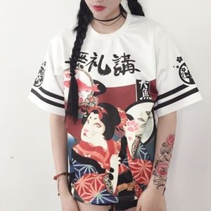 graphic t-shirt with asian pattern